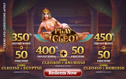 Play with Cleo Promotions from Sxvegas